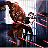 Belle and Beast as Han Solo and Chewbacca