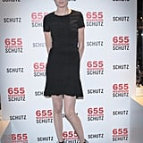 Nicole Trunfio feted the Schutz anniversary in a feminine LBD.