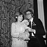 The designer stopped by Barbra Streisand's dressing room backstage of her Broadway show Funny Girl in 1965.