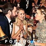 Pictured: John Krasinski, Kristen Bell, and Emily Blunt