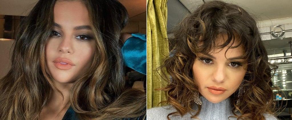 Selena Gomez Debuts Curly Lob and Bangs February 2020