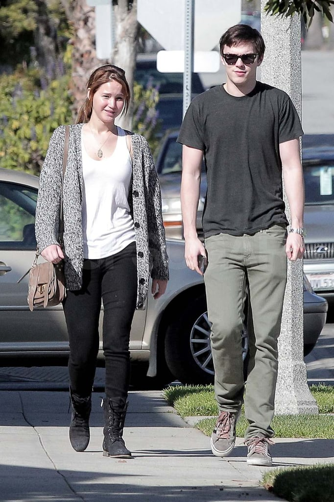 Jennifer Lawrence Goes For a Stroll With Her Valentine Nicholas Hoult