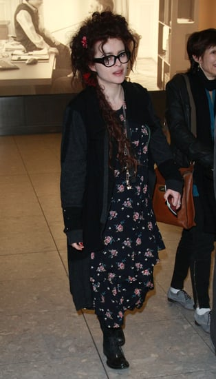 Pictures of Helena Bonham Carter and Colin Firth Arriving in UK After Golden Globes as The King's Speech Gets BAFTA Nominations
