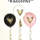 Metallic Heart Balloons