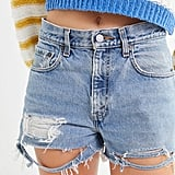 Urban Renewal Recycled Levi's Low-Rise Slouchy Denim Shorts