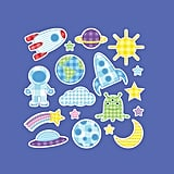 Space-Themed Cloth Wall Decals ($33)