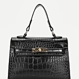 Romwe Croc Embossed Grab Bag
