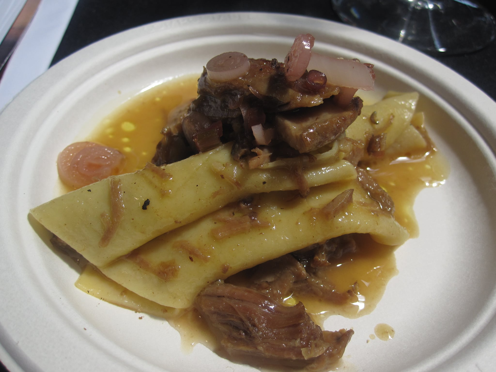 Hand-rolled pasta with braised lamb shoulder was so amazing I could have eaten an entire plateful.