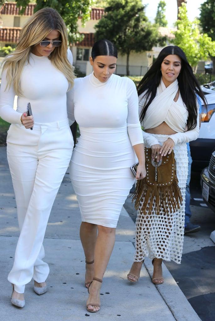 Kourtney Kardashian With Kim and Khloe After Split | Photos