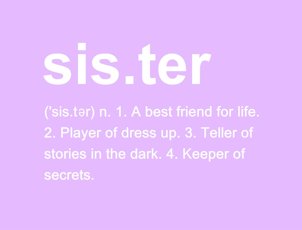Sister definition ($15)