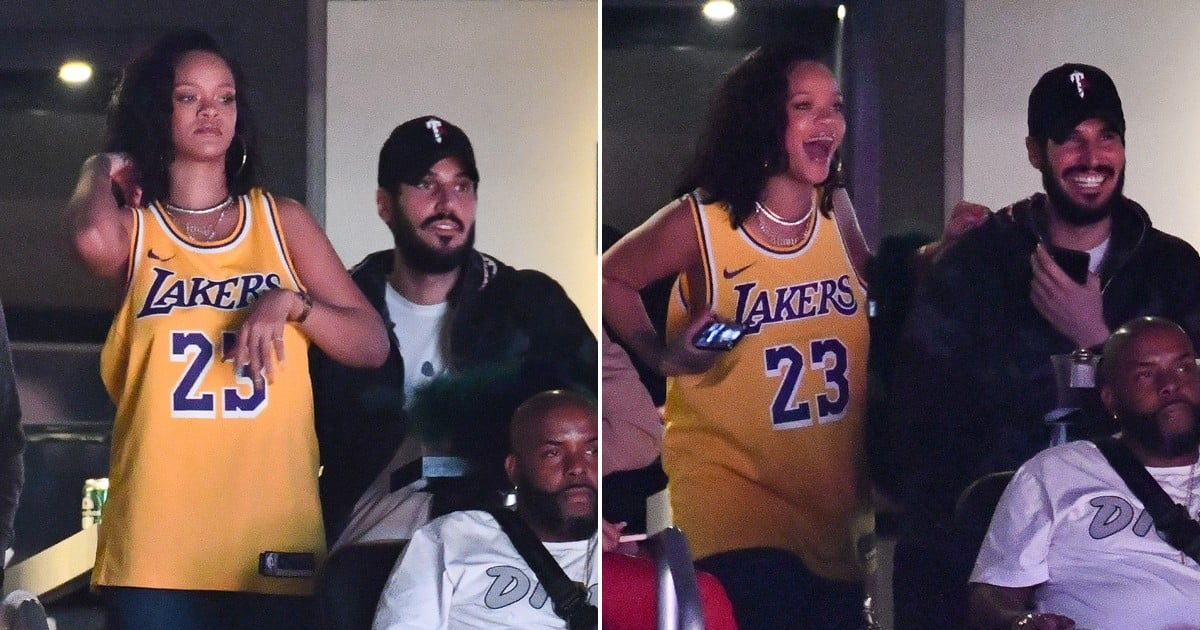 best service e0256 9c91a Rihanna and Hassan Jameel at Lakers Game February 2019 ...