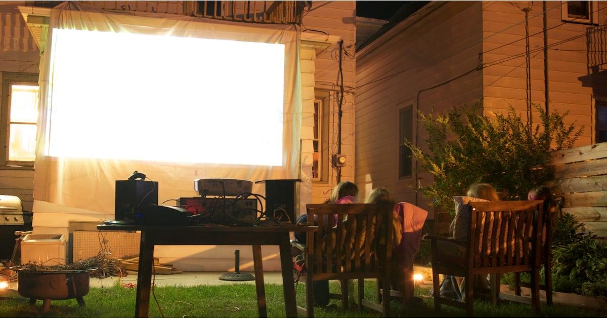 Diy Outdoor Movie Screen How To Build