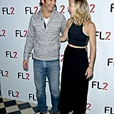 She also wore heels and accessorized her outfit with none other than her brother, Oliver Hudson.