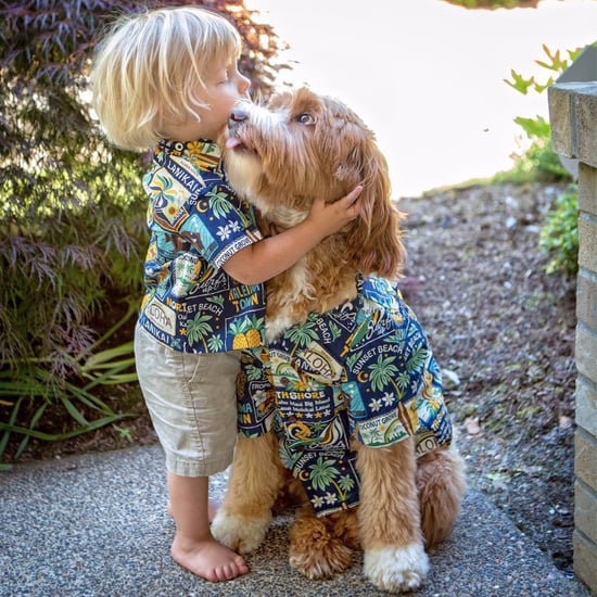 Reagandoodle and Little Buddy Matching Outfit Photos