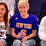 Miley Cyrus Casually Flaunts Her Engagement Ring at a Basketball Game With Her Sister