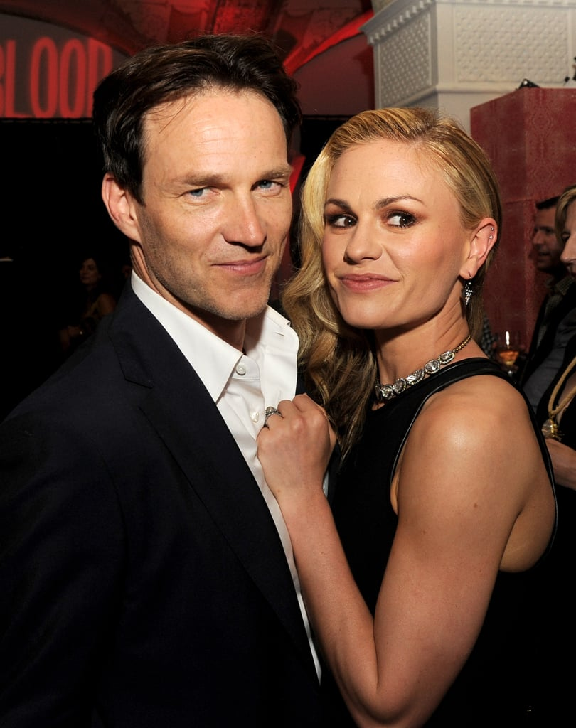 Anna Paquin and Stephen Moyer looked loved-up inside True Blood's season six premiere in LA in June 2013.