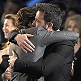 Bradley Cooper and Ben Affleck had a bromantic moment during the Critics' Choice Awards in January 2013.