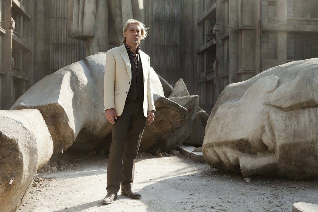 That is one original look for Javier Bardem, who plays Bond's nemesis Silva.