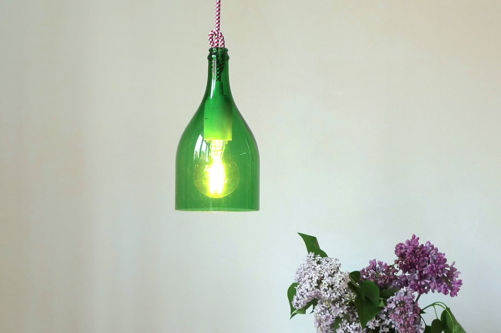 Wine bottle pendant light cool upcycling projects popsugar smart living photo 18 - Wine bottle pendant light ...