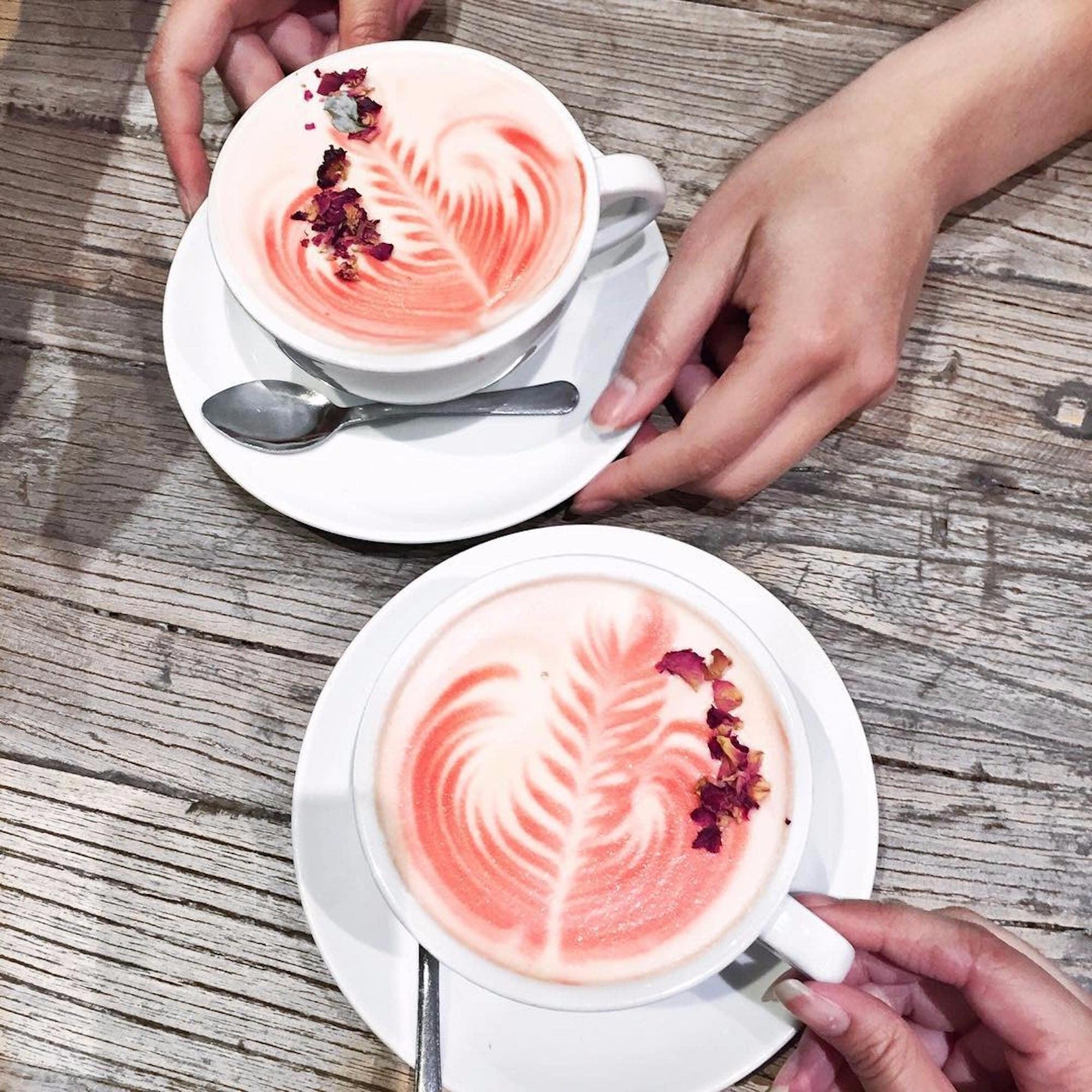 Image result for rose latte