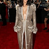 Kim Wore a Gilded Jean Paul Gaultier Dress to the Grammys