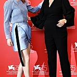 Pictured: Emma Stone and actress Olivia Colman