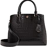 Tory Burch Robinson Croc Embossed Leather Tote