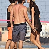 Alessandra Ambrosio and Jamie Mazur traded kisses during a July beach day in Malibu.