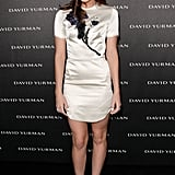 At David Yurman's Beverly Hills store opening in May, Christa matched a satin appliqué dress with her favorite Vince Camuto sandals ($98, originally $118).