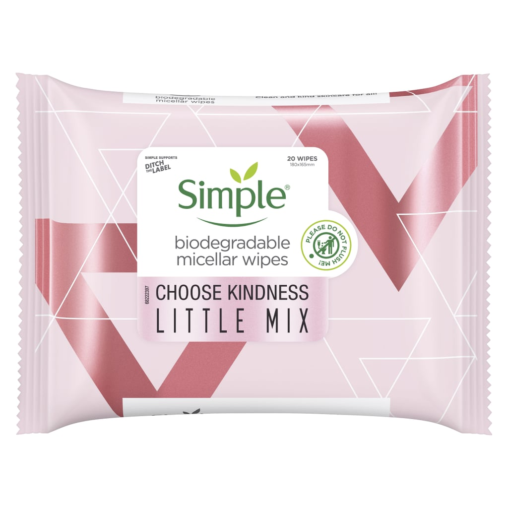 Simple x Little Mix Biodegradable Micellar Wipes