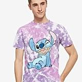 Disney Lilo & Stitch Smiling Stitch Purple Tie-Dye T-Shirt