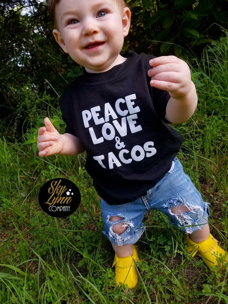 Peace, Love, & Tacos Tee