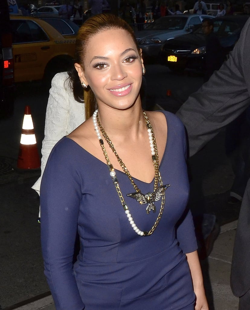 Beyoncé Knowles arriving to a fundraiser for President Obama.