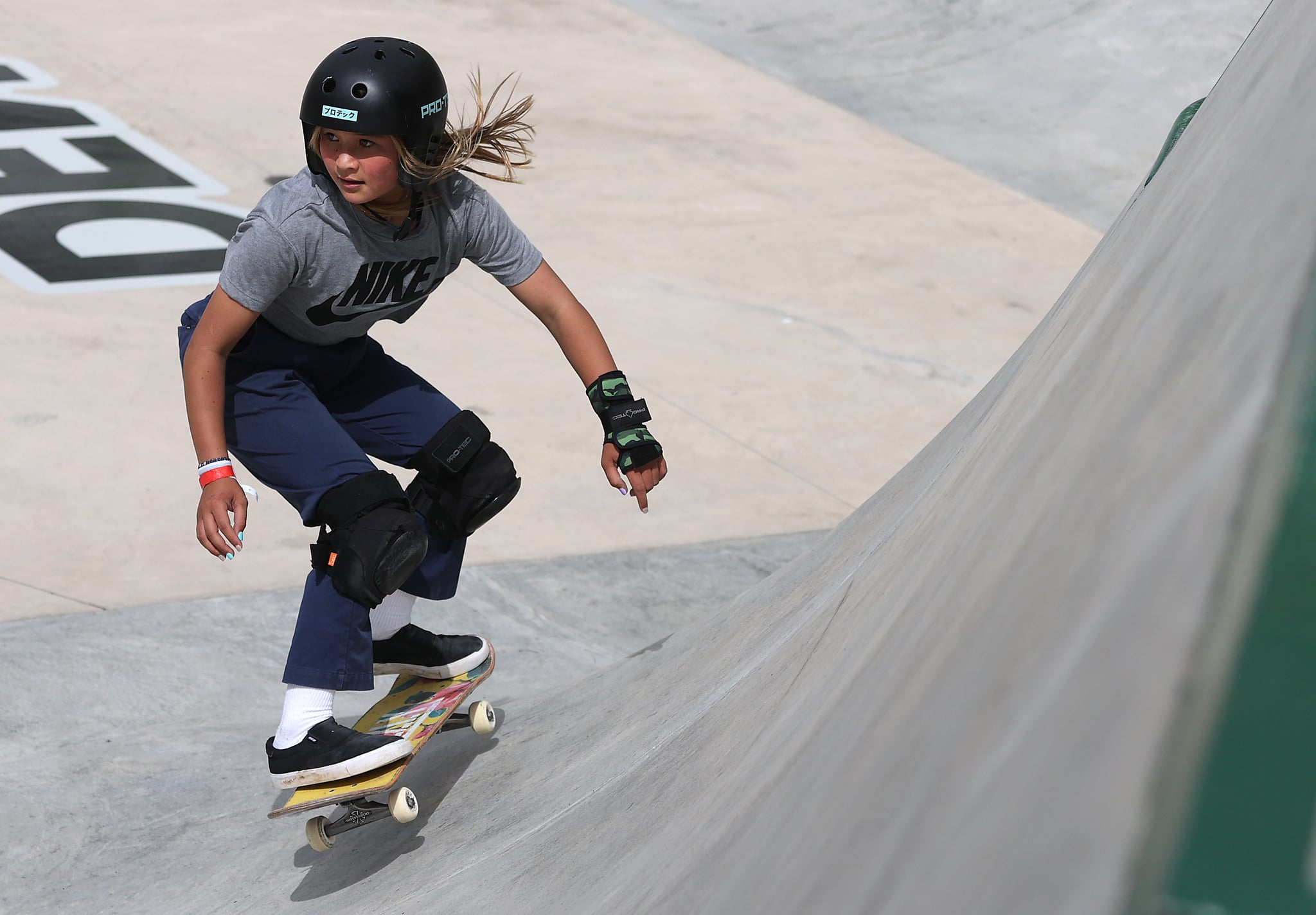 DES MOINES, IOWA - MAY 21: Sky Brown of Great Britain competes in the Women's Park Semifinal at the Dew Tour on May 21, 2021 in Des Moines, Iowa. (Photo by Sean M. Haffey/Getty Images)
