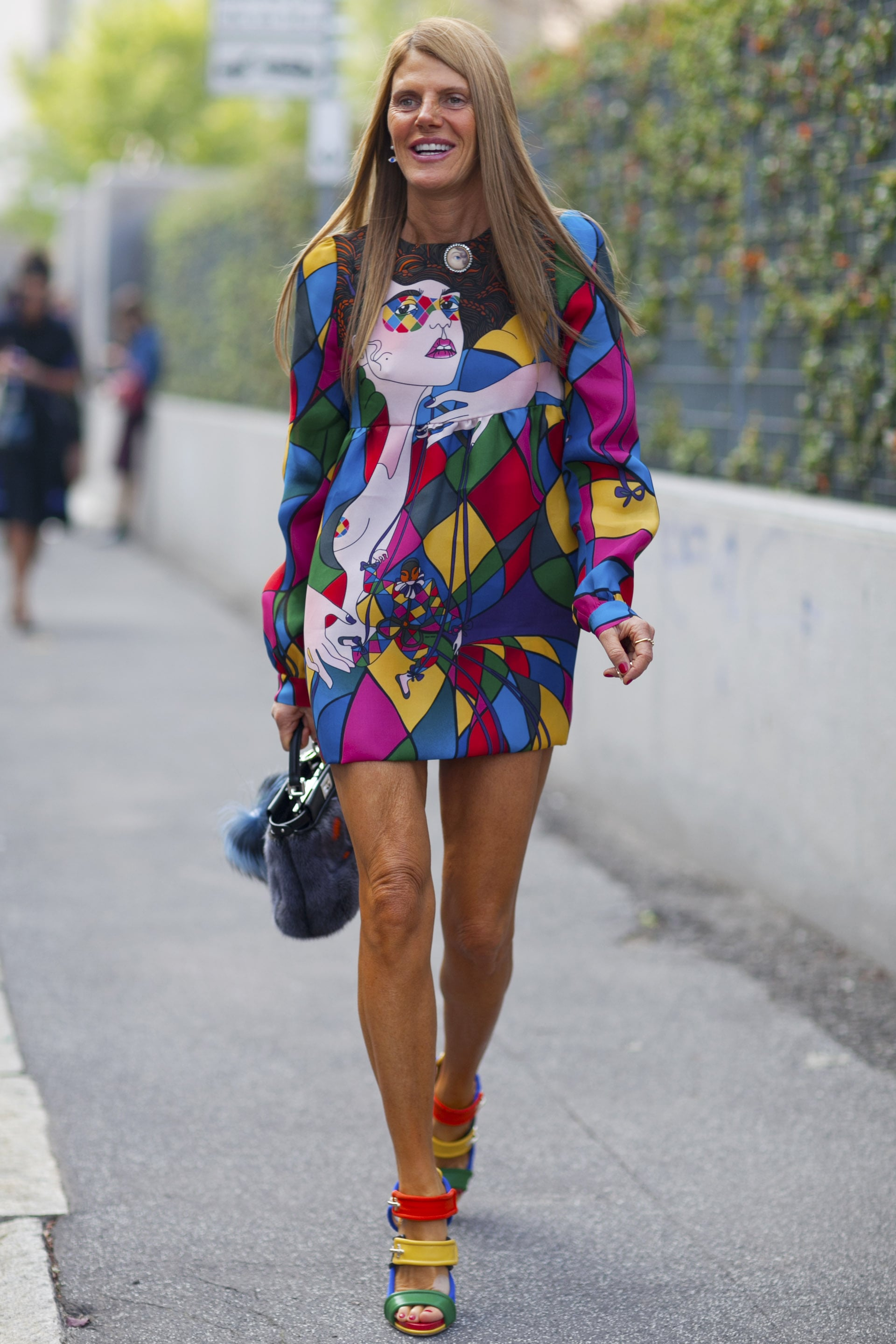 There's no such thing as too much color for Anna Dello Russo.