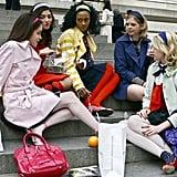 Blair Waldorf's Tights: Colourful and Printed