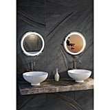 Ilana W Round LED Lighted Glass Wall Mirror