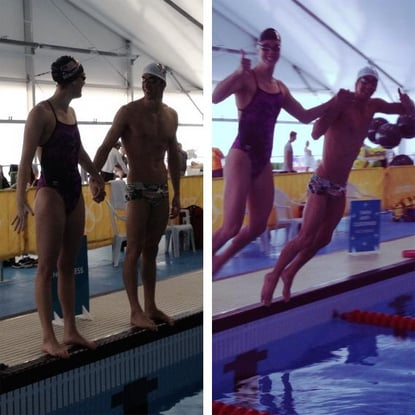 Michael Phelps captured his last workout with swimming pal Allison Schmitt.  Source: Twitter user MichaelPhelps