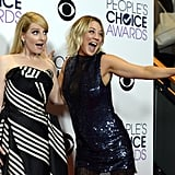 The Big Bang Theory's Kaley Cuoco and Melissa Rauch celebrated their favorite TV show win.