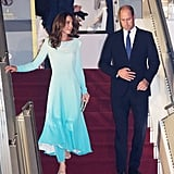 Kate Middleton's Blue Dress Is an Homage to Princess Diana