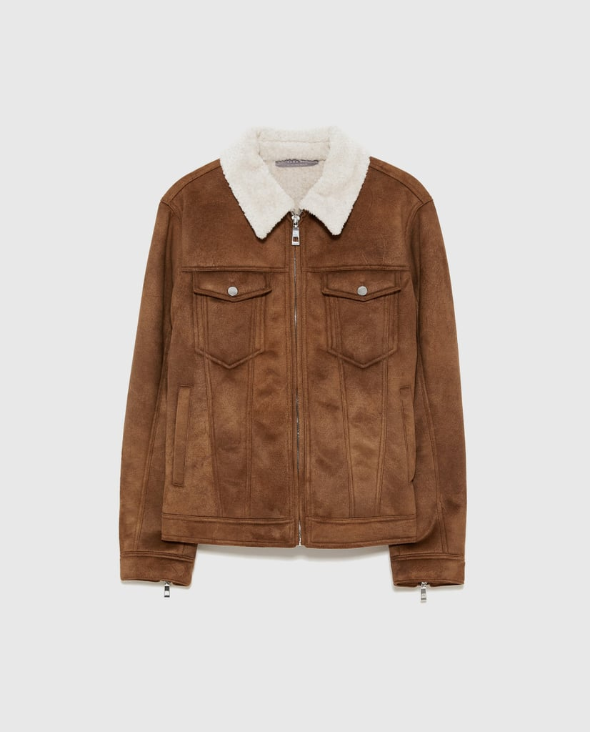 Zara Faux Suede Double Sided Jacket
