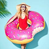 Strawberry Frosted Donut Pool Float