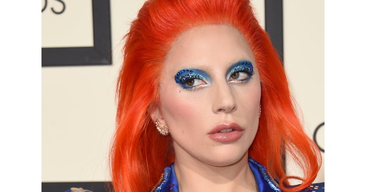 Lady Gaga Makeup and Hair at the 2016 Grammys   POPSUGAR Beauty ...