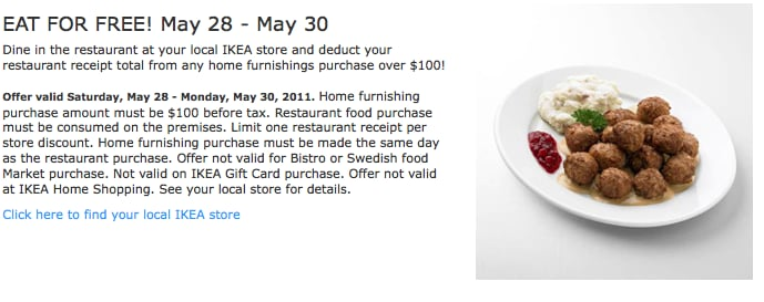 Eat For Free At Ikea Memorial Day Sales 2011 Popsugar Smart