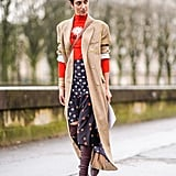 Opt For a Brown Pair of Boots Styled With a Classic Trench Coat