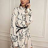 Pixie Market Graphic Print Shirt Dress
