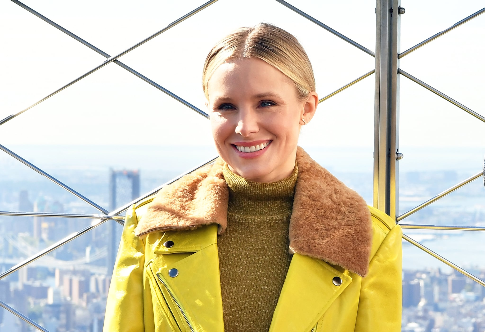 NEW YORK, NY - SEPTEMBER 27:  Actress Kristen Bell attends ceremonial lighting of Empire State Building in support of Women's Peace & Humanitarian Fund at The Empire State Building on September 27, 2018 in New York City.  (Photo by Slaven Vlasic/Getty Images)