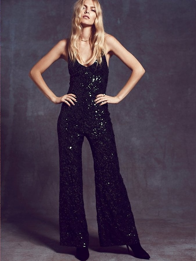 Free People Sequin Jumpsuit Best Party Jumpsuits And Playsuits For