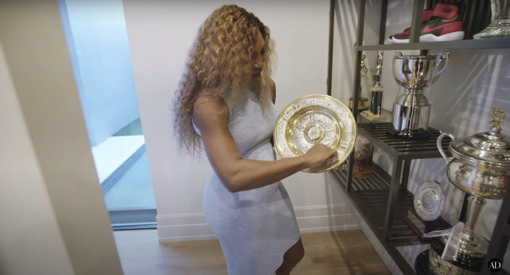 No big deal, just a Wimbledon trophy.