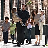 Brad Pitt and Angelina Jolie like their six children, Maddox, Pax, Zahara, Shiloh, Knox, and Vivienne, to accompany them on their world travels. In March 2011, the whole family explored New Orleans.